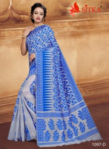 Sitka Indicom-1097 Cotton Saree ( 4 pcs catalog )