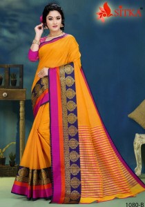Sitka Sweety-1080 Cotton Saree ( 4 pcs catalog )