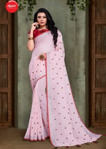 Apple Elite Linen Sarees ( 8 pc catalog )