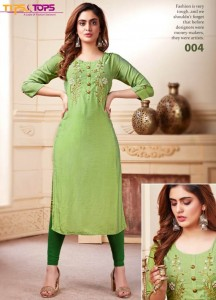 Tips & Tops Resham Kurtis ( 6 Pcs Catalog )