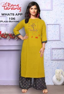 Rang Tarang Whats App Kurti With Palazzo ( 9 Pcs Catalog )