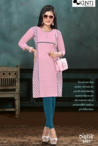 Kinti Disha-30 Handloom Cotton Kurtis ( 10 Pcs Catalog )
