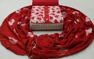 NKT Cotton with Batik Dress Material ( 4 Pc Set )