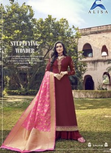 Alisa Amira Vol-12 Georgette Dress Material ( 6 pcs Catalog )