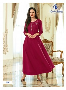 Ladies Flavour Miss gold Kurtis ( 7 pc catalog)