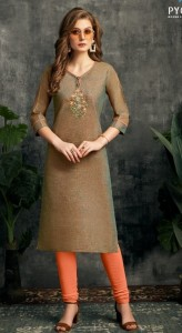 Pyora Saira Two Tone Cotton kurtis (6 pcs catalog)