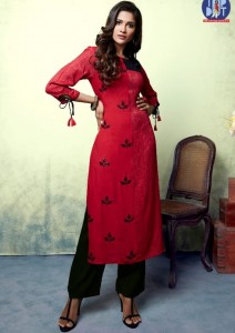 Topdot Sheen Embroidered Kurtis ( 8 Pc Catalog )