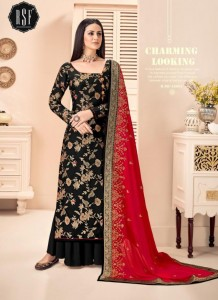 RSF Swag silk Jacquard WIth Embroidery Work Dress material