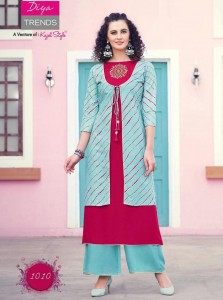 Diya Trends Scarlett Vol-1 Kurti With Shrug ( 14 Pcs Catalog )