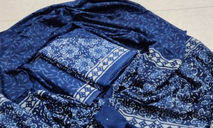 Pure Jaipuri cotton hand block printed With pure cotton dupatta ( 5 pc Set)