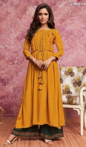 Rangoon Merry Kurti With Plazzo ( 5 pc catalog)