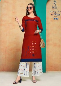 Diksha Fashion Netra Vol-1 Kurti With Palazzo ( 8 Pcs Catalog )
