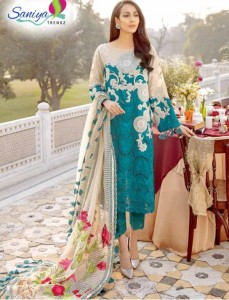 Saniya Trendz Charizma Signature Luxury Lawn Dress Material ( 3 Pcs Catalog )