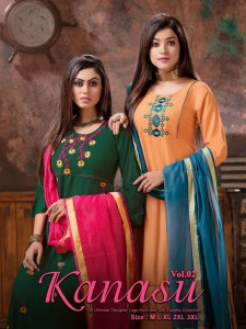 Fashion Talk  Kanasu vol-2 Kurti with Dupatta   ( 8 Pcs Catalog )