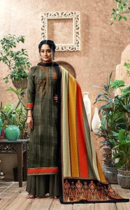 Sumayra Kashmiri Shawl Pashmina Dress Material (8 Pc Catalog)