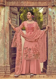Mumtaz Arts Rangoki Duniya Kinnari Karachi Cotton With Cotton Dupatta(10 pc catalog )