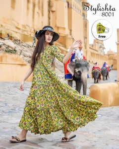 Stylishta Vol-8 Printed Stylish Flair Kurtis collections ( 4 Pcs Catalog )