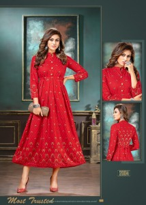 Fashion Talk Falak vol-2 Heavy Rayon Kurtis  ( 8 pc catalog )