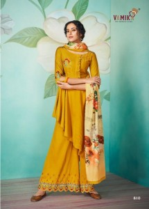 VAMIKA CHAHAT VOL-2 PURE MUSLIN WITH COTTON READYMADE PLAZZO WITH SUITS ( 6 PCS CATALOG )