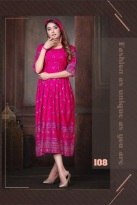 Fashion Talk Sweet Queen  Heavy Rayon Kurtis  ( 10 pc catalog )