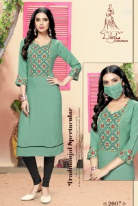 Diksha Livaa Vol-2 Rayon Kurtis (8 pc Catalog)