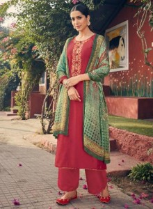 Angroop Plus Emerald Dress Material
