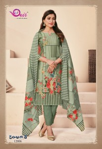 Devi Zoya Vol-8 Dress Material ( 12 pc catalog )