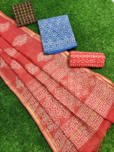 Exclusive New Hand Block Printed Kota Cotton Dress  Materials