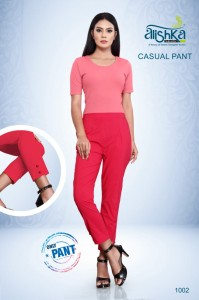 Alishka Fashion Stretchable Casual Pants ( 7 Pcs Catalog )