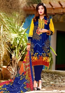 Al- Karam Vol-2 Kesariya Pure Cotton Dress Material ( 10 pc catalog )