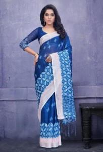 Apple Indigo Vol-1 PureLinen Silk Sarees (8 pc catalog)