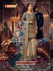 Fepic Rosemeen Brides Blockbuster Dress Material ( 4 pcs Catalog )
