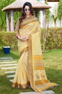 SANGAM PRINTS PRAFULLAM COTTON SAREES ( 8 PCS CATALOG )