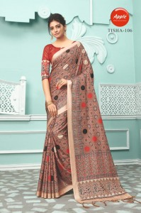 Apple Tisha Silk Saree ( 6 Pcs Catalog )