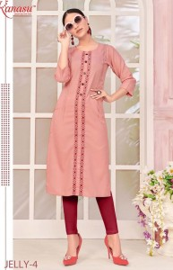 Kanasu Jelly Cotton Kurtis ( 8 pcs Catalog )