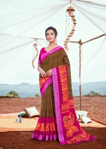 Myra Chitralyam Pattu Cotton sarees ( 12 pcs catalog )