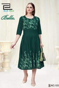 Vee Fab Bella Vol-1 Rayon Kurti ( 8 Pcs catalog )