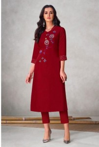 Vamika NX Colours Viscos Slub Kurtis ( 8 pcs Catalog )