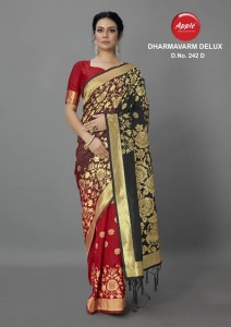 Apple Dharmavarm Delux-230 & 242 Saree ( 6 Pcs Catalog )