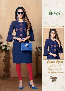 Hirwa Orange Vol-3 Rayon Kurtis ( 8 Pcs Catalog )