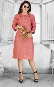 SS Kurtis Reeva Handloom Cotton Kurtis ( 10 pc catalog )