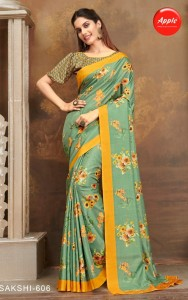 Apple Sakshi vol-6 Manipuri Silk Sarees (12 pc catalog)