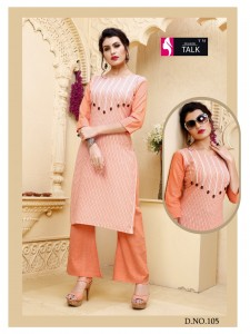 Fashion Talk Chitra Kurti With Plazo  ( 8 Pcs Catalog )