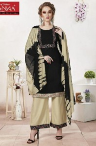 Wanna Diyah Fancy Kurti Palazzo With Dupatta ( 8 Pcs Catalog )