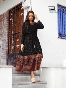 Vee Fab India Ace Rayon Kurti ( 4 Pcs Catalog )