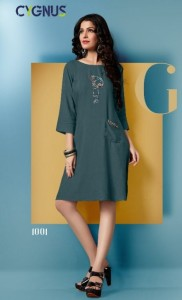 Cygnus Barbie Rayon Kurtis ( 6 Pcs Catalog)