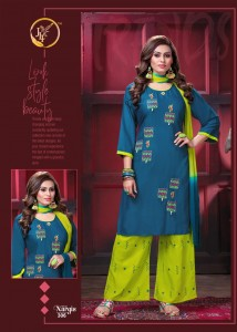 JLF Nargis vol-3 Kurti Palazo With Dupatta ( 8 pcs Catalog )
