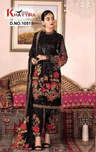 Khayyira Suits sobia nazir Party Wear Pakistani Style suits ( 4 Pcs Catalogue )