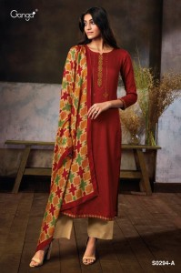 Ganga Myra Silky Cotton Dress material ( 4 Pcs Catalog )