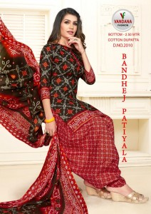Vandana Fashion Bandhej Patiyala Vol-2 Dress Material (12 Pcs Catalog )
